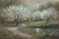 Blossoms in Moonlight 24x30 LE Signed & Numbered - Giclee Canvas
