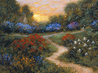 Evening in the Garden 20x30 LE Signed & Numbered - Giclee Canvas
