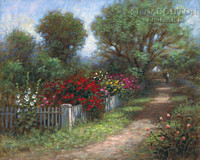 Flowered Path 11x14 LE Signed & Numbered - Giclee Canvas
