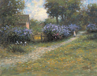 Lilac Path 24x30 LE Signed & Numbered - Giclee Canvas