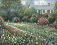 Monet's Garden 12x18 OE Signed by Artist - Giclee Canvas
