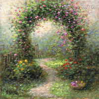 Rose Arbor II 20x20 LE Signed & Numbered - Giclee Canvas