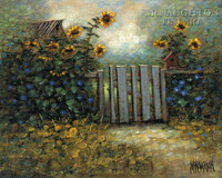 Sunflower Gate 24x30 LE Signed & Numbered - Giclee Canvas