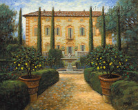 Italian Villa 24x30 LE Signed & Numbered - Giclee Canvas