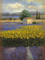 Lavender and Gold 1 24x36 LE Signed & Numbered - Giclee Canvas