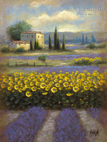 Lavender and Gold 2 24x36 LE Signed & Numbered - Giclee Canvas
