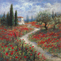 Path to the Villa 20x20 LE Signed & Numbered - Giclee Canvas