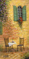 Table for Two 12x24 LE Signed & Numbered - Giclee Canvas