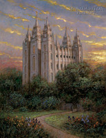 Gate to Heaven - Salt Lake Temple 11x14 LE Signed & Numbered - Giclee Canvas