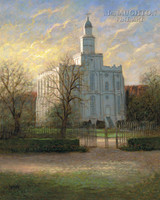 St. George Temple 20x24 LE Signed & Numbered - Giclee Canvas