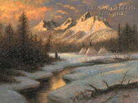 Spirits of Tetons 24x36 LE Signed & Numbered - Giclee Canvas