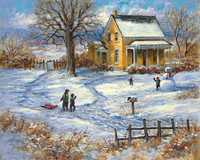 Winter Playground 16x20 LE Signed & Numbered - Giclee Canvas