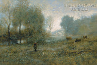 Along the River 12x18 OE Signed by Artist - Giclee Canvas