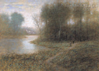 Beside Still Waters 12x18 OE Signed by Artist - Giclee Canvas