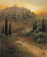 Evening in Tuscany 24x30 LE Signed & Numbered - Giclee Canvas