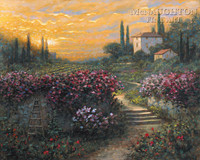 Tuscan Garden 16x20 LE Signed & Numbered - Giclee Canvas