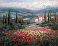 Tuscan Hills 12x18 OE Signed by Artist - Giclee Canvas
