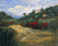 Tuscan Red 11x14 LE Signed & Numbered - Giclee Canvas