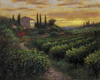 Tuscan Vineyard 20x24 LE Signed & Numbered - Giclee Canvas