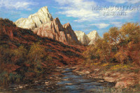 Color of Zion 12x18 OE Signed by Artist - Giclee Canvas