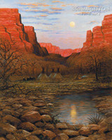 Desert Moon 20x24 LE Signed & Numbered - Giclee Canvas