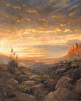 Golden Sky 18x22 LE Signed & Numbered - Litho Print