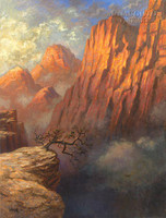 Over the Edge 28x35 - Giclee Canvas