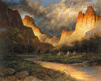 Thunder Canyon 28x35 - Giclee Canvas