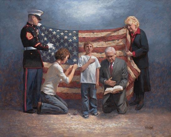 Mending The Nation Original Artwork 24 X 30 Mcnaughton