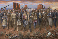 Wild Wlld West, 16X24 Canvas Giclee