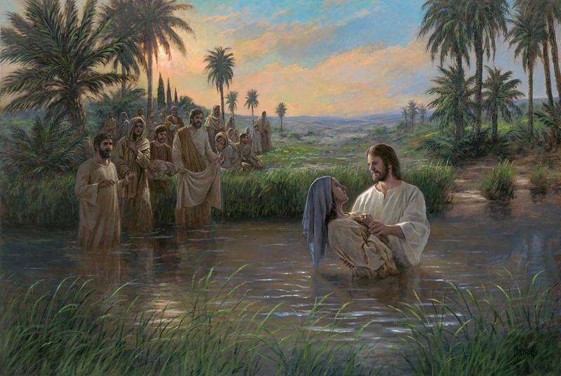 Jesus Himself Baptized
