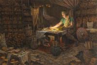 Mormon Abridging the Plates - 10X15 litho open edition