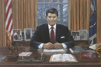 Ronald Reagan - It Can Be Done, 20X30 Canvas Giclee, Limited Edition, 100 S/N