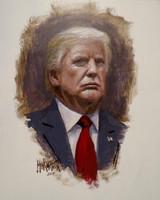 President Trump Portrait - 11X14 Litho