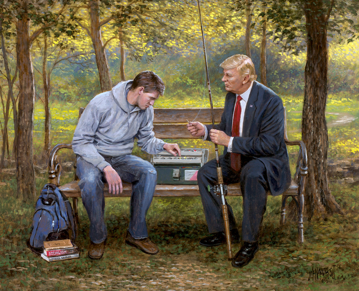 Teach A Man To Fish 11x14 Litho Mcnaughton Fine Art