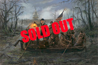 SOLD OUT - Crossing the Swamp - 24X36 inch Limited Edition Giclee Canvas Print, Signed and Numbered (200)