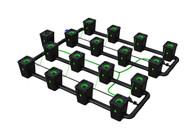 Alien Hydroponics 16 Pot  RDWC Pro 55 litre 100cm centres