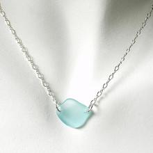 Aqua Glass Laurie Necklace