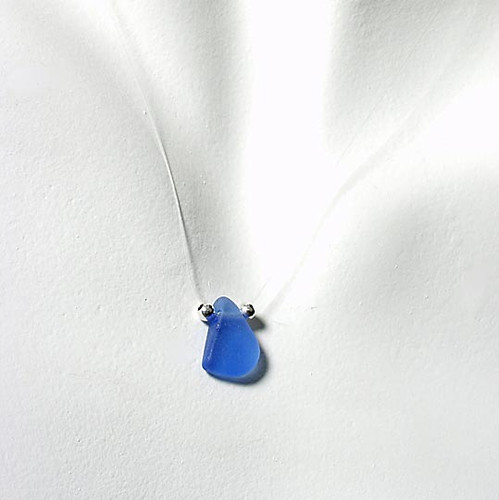 Periwinkle Single-Glass Illusion Necklace