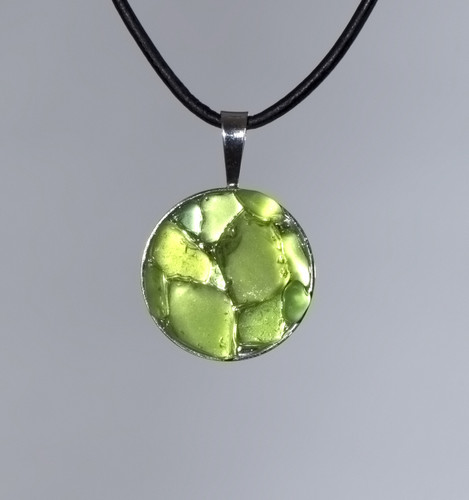 Lime Green Disc Pendant