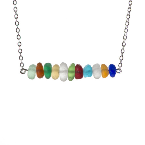 Multi Colored Bar Necklace