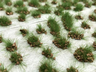 Self-Adhesive Tufts - 6mm Rocky Deep Green- Natural Layout