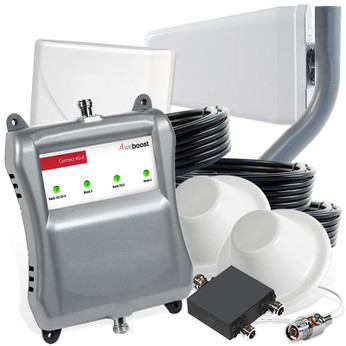 weBoost 471104 Connect 4G-X Cell Phone Signal Booster with 2 Dome Antennas: Kit