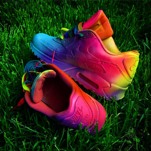 Full Neon With Rainbow Laces