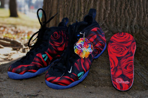 "Custom Nike Foamposite  ""Roses"""