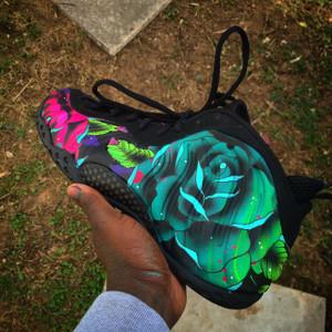 "Custom NIke Foamposite 1 ""New School Florals"""