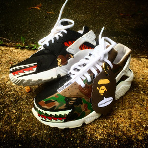 """Bape"" Themed Huaraches"