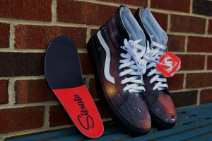 Sz. 10 Solar Flare Vans Sk8-Hi (Next Day Ship, NO WAIT)
