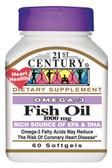 Buy Fish Oil 1000 mg 60 sGels 21st Century Health Online, UK Delivery, EFA Omega EPA DHA