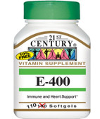 Buy E-400 110 sGels 21st Century Health Online, UK Delivery, Vitamin E